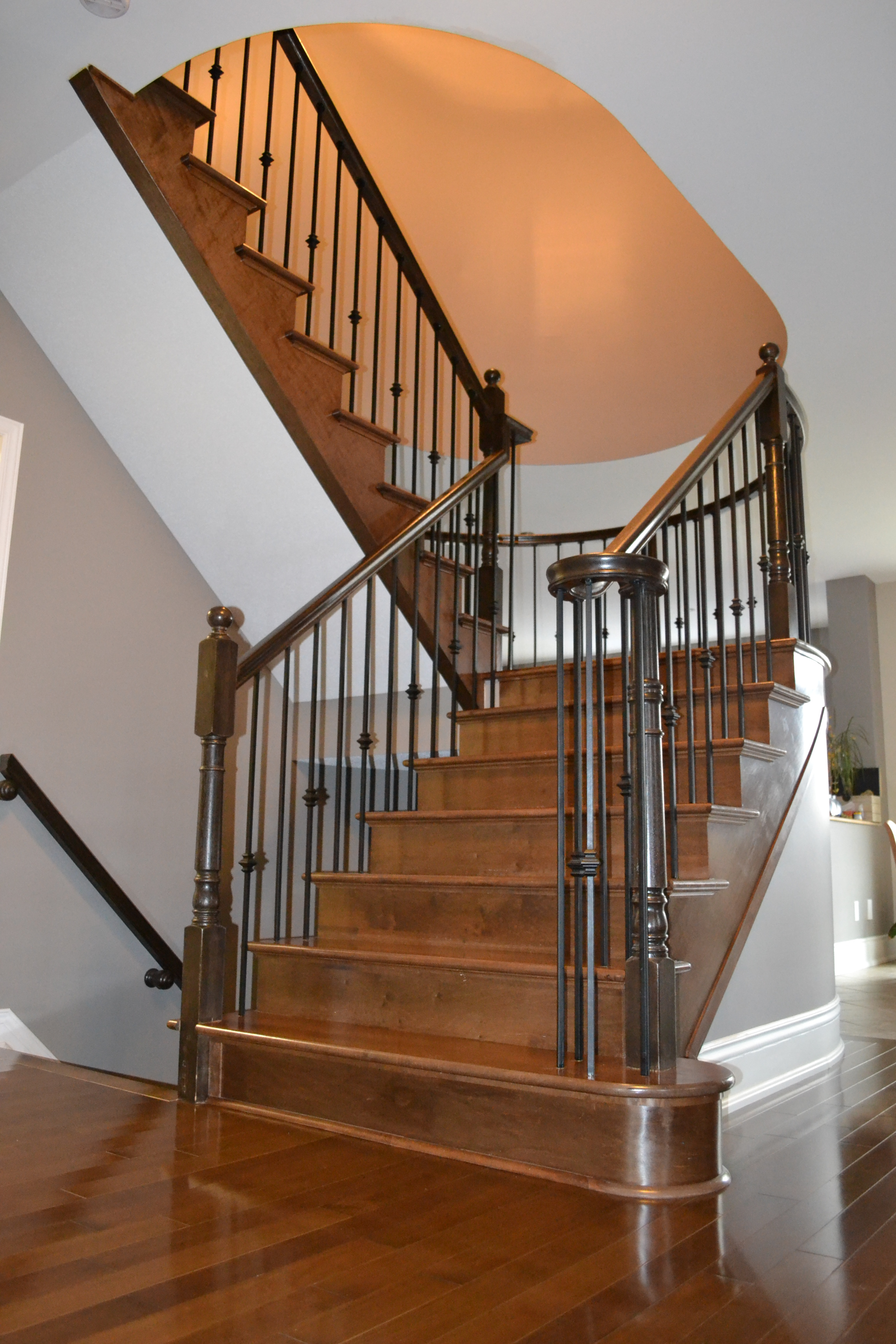 Stairs And Railings Hardwood Flooring And Staircase