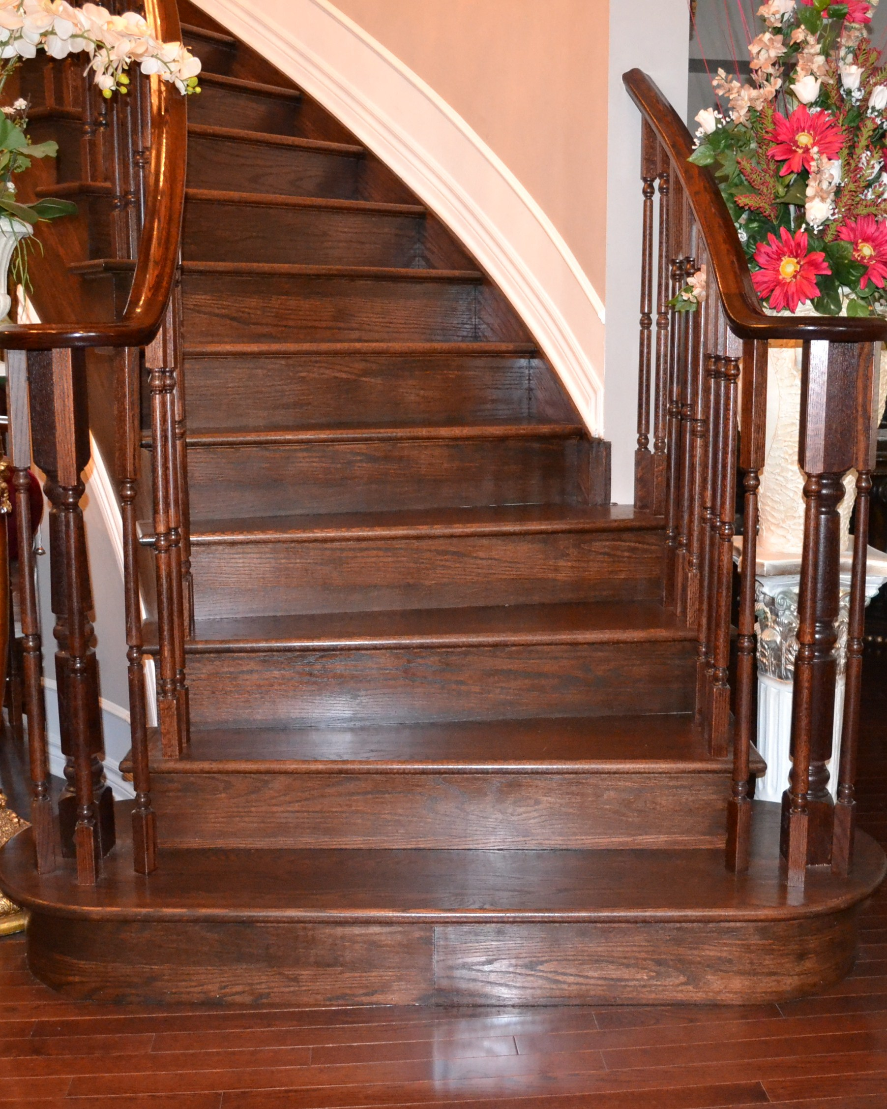 Custom Stain Hardwood Flooring And Staircase Recapping In Ottawa